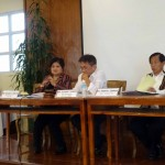 (L-R) RDC Vice Chairperson Milagros Rimando, Chairperson Eustaquio Bersamin and Baguio City Mayor Mauricio Domogan clarifies concerns on Section 12 of the Indigenous Peoples' Rights Act during the RDC Full Council Meeting on October 8.
