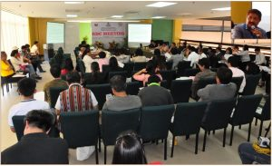 The RDC members, during the Fourth Quarter Full Council meeting on November 21, 2016 at the Benguet Agri-Pinoy Trading Center in La Trinidad, Benguet. (Inset: Former DENR-CAR Director Clarence Baguilat)