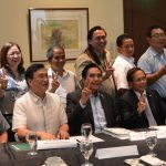 OPAPP Sec. Jesus Dureza (seated 5th from left) in a lighter mood after the meeting with CAR and other OPAPP officials